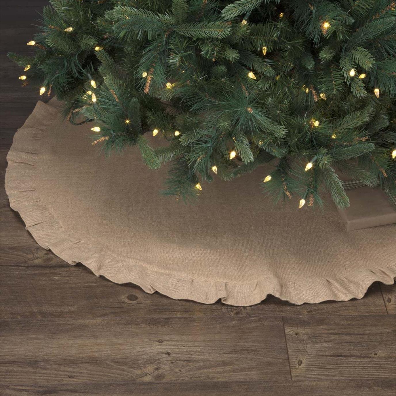 Jute Burlap Natural Tree Skirt 48