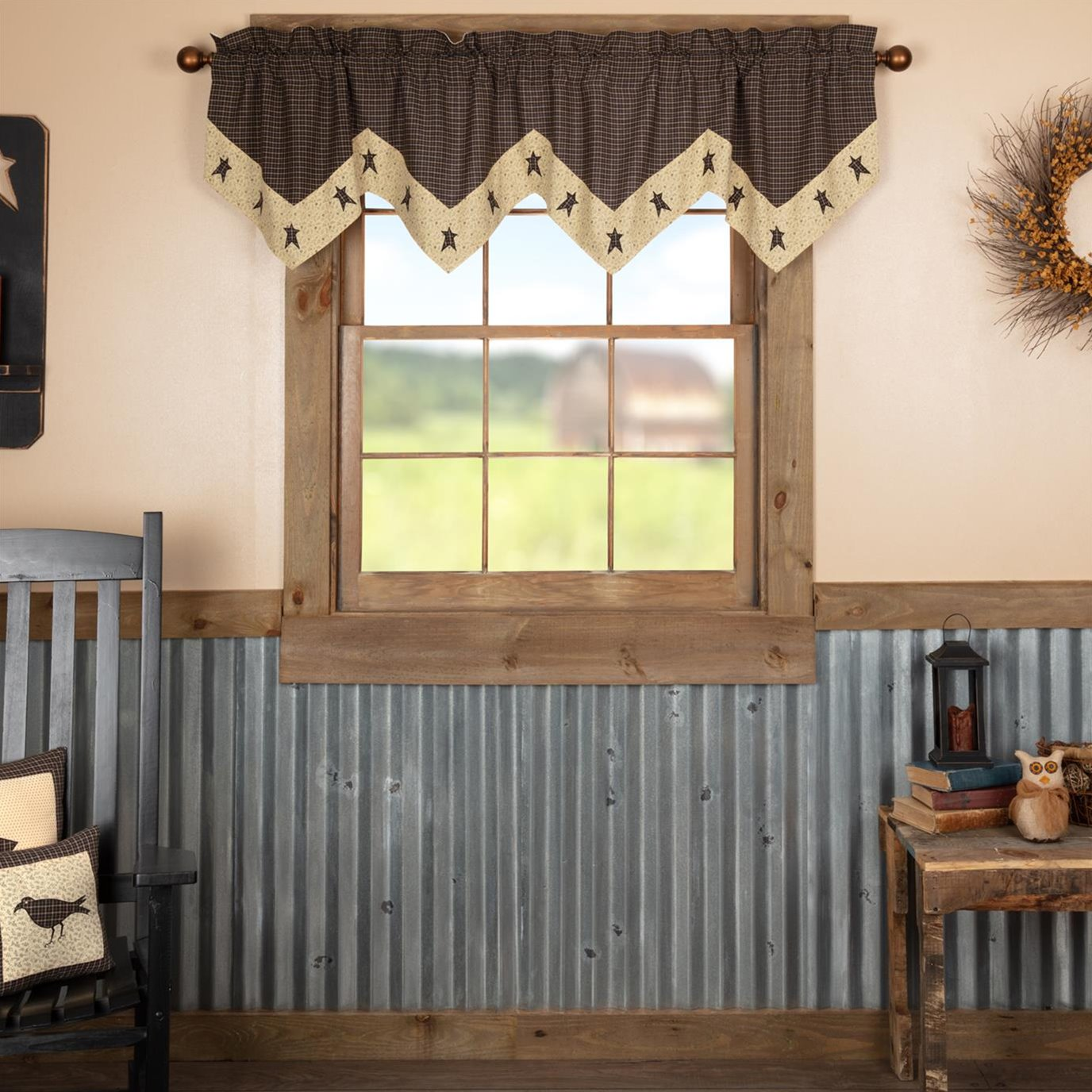 Kettle Grove Star Valance 20x72