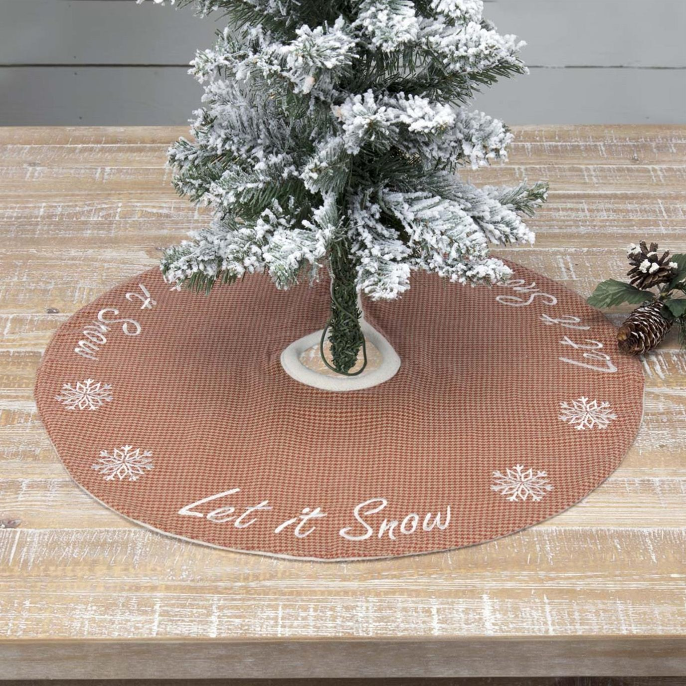 Let It Snow Mini Tree Skirt 21