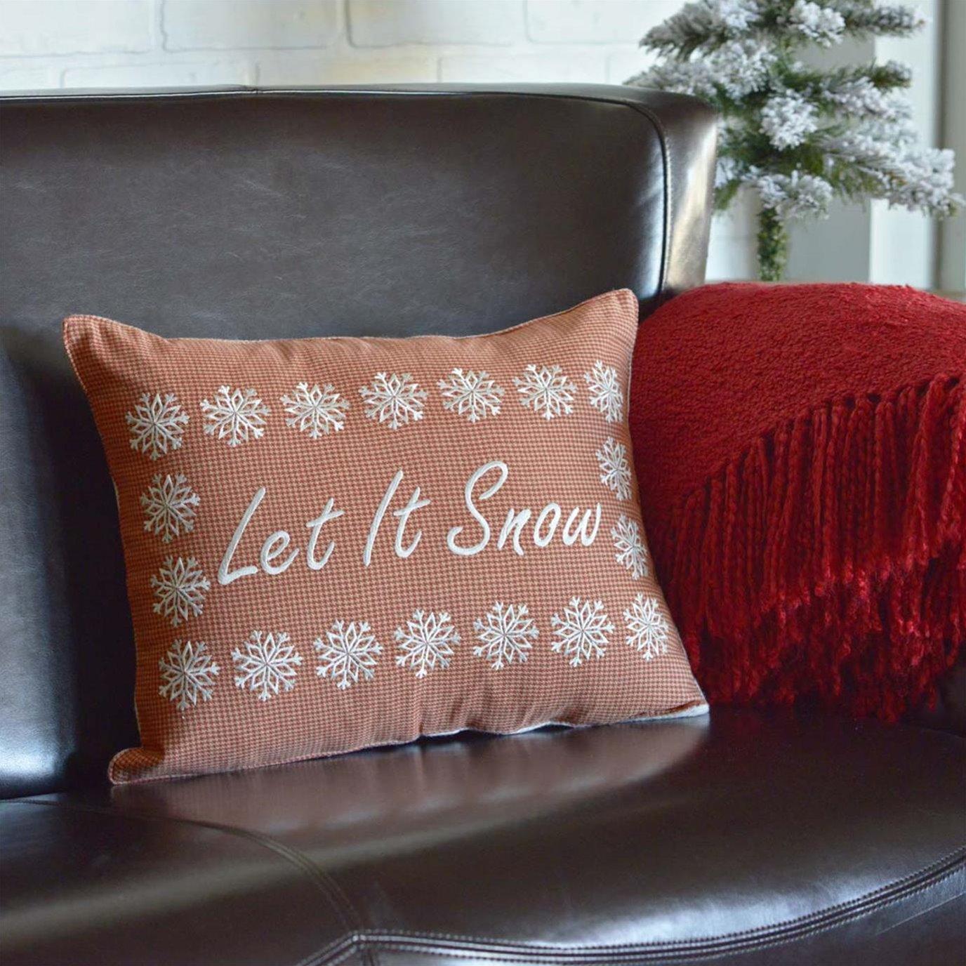 Let It Snow Pillow 14x18