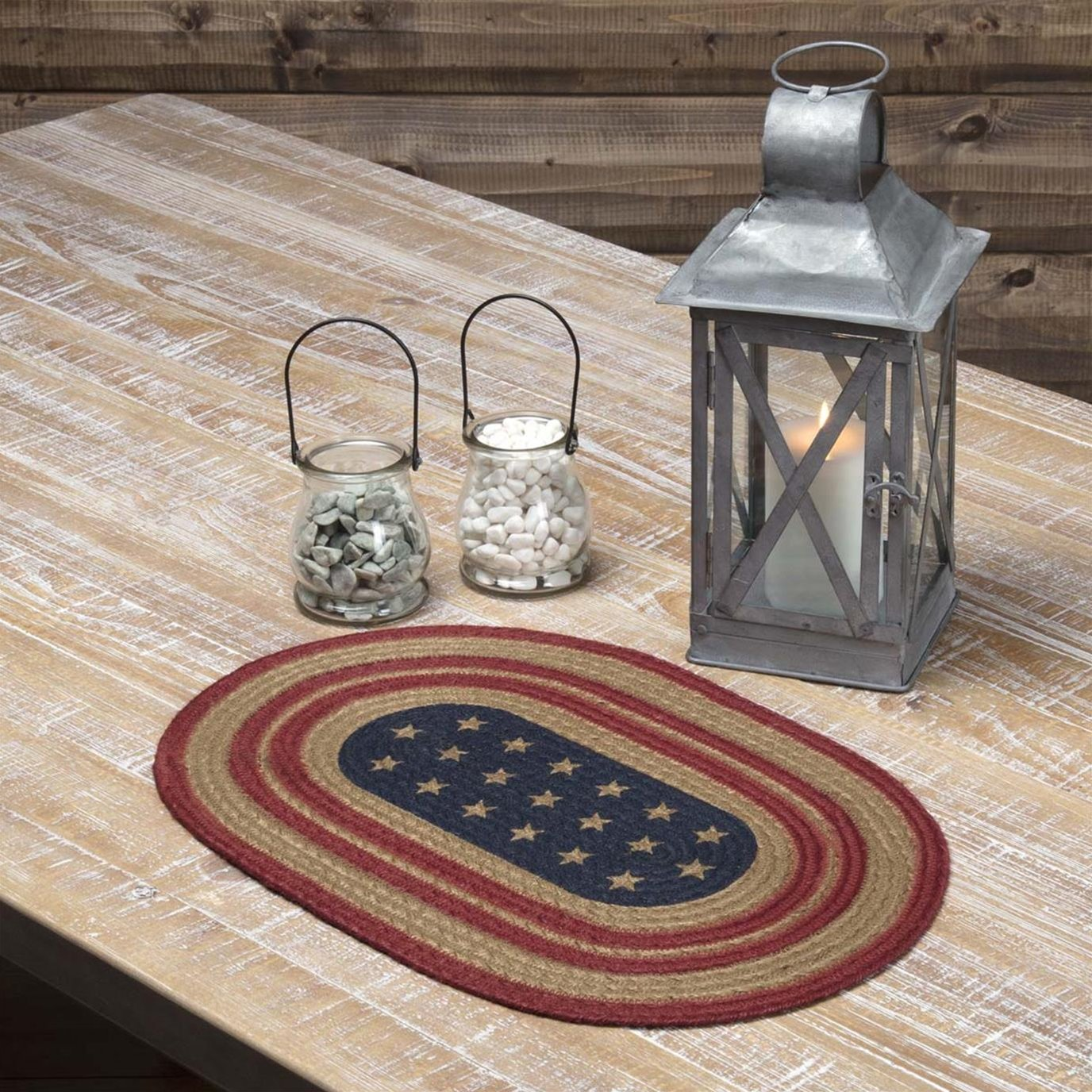 Liberty Stars Flag Jute Placemat Set of 6 12x18