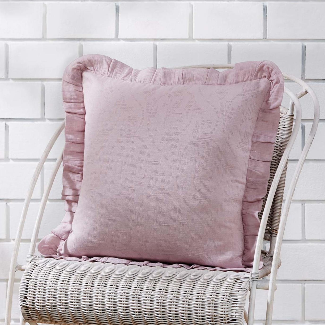Lilac Ruffle Pillow Cover 18x18