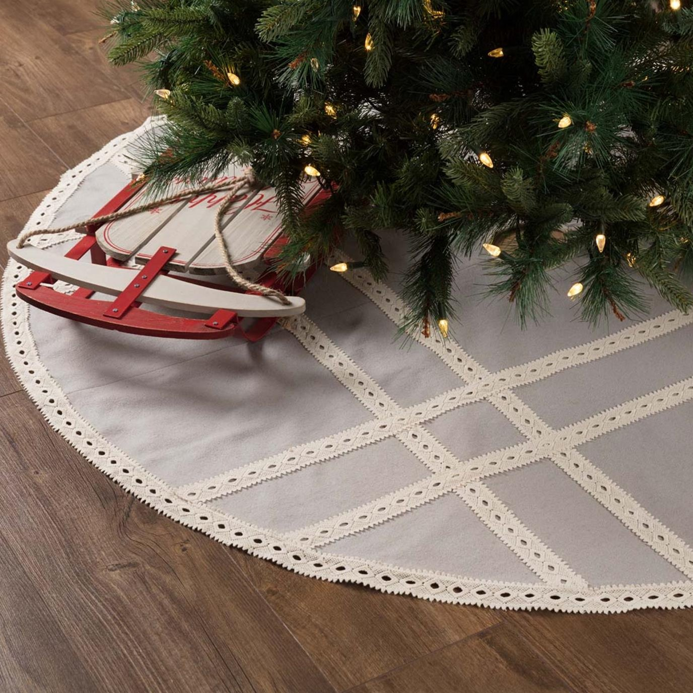 Margot Grey Tree Skirt 60