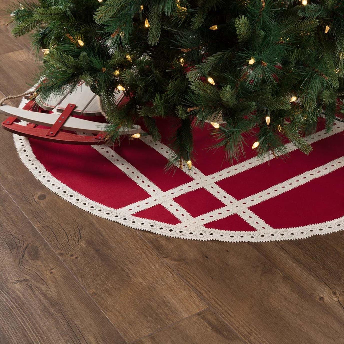 Margot Red Tree Skirt 48