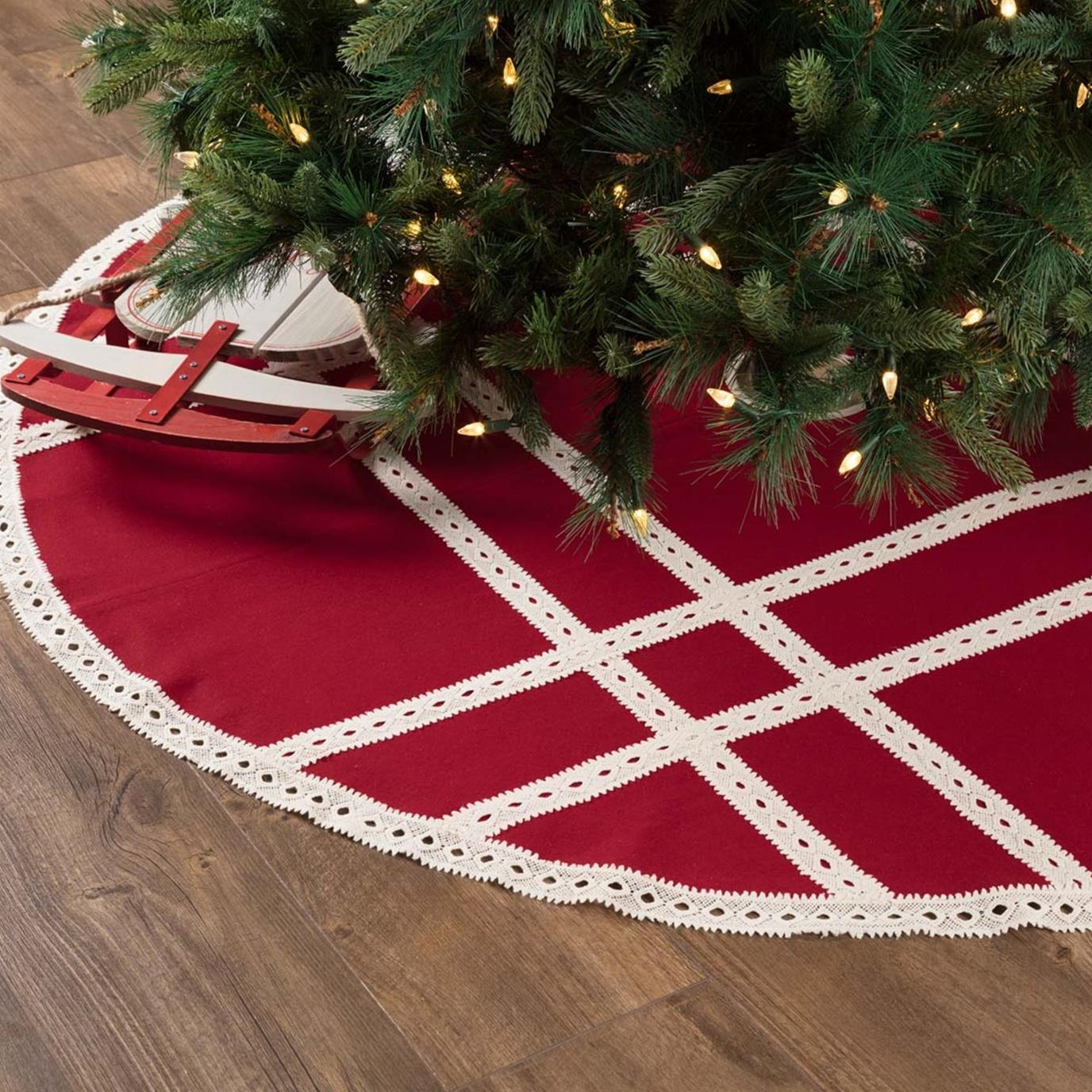 Margot Red Tree Skirt 60
