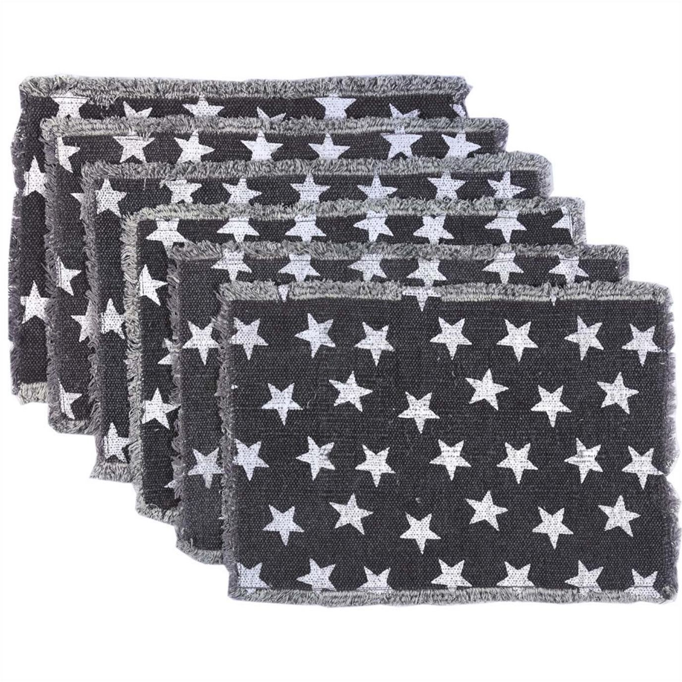 Multi Star Navy Placemat Set of 6 12x18
