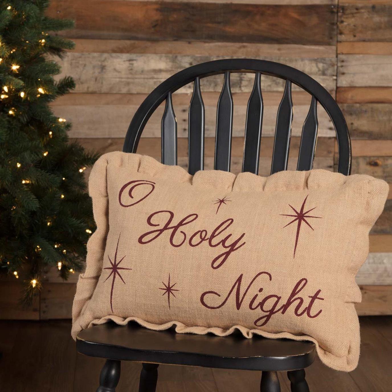 O Holy Night Pillow 14x22