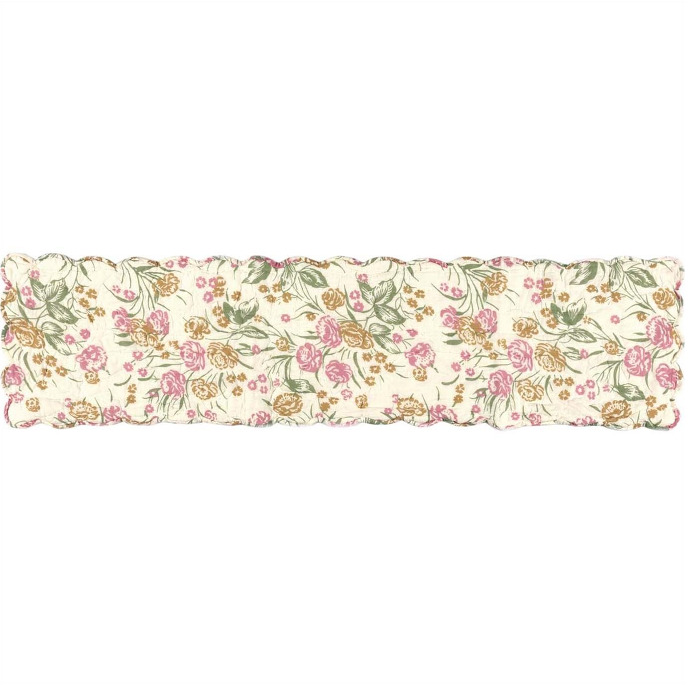 Madeline Floral Quilted Runner 13x48
