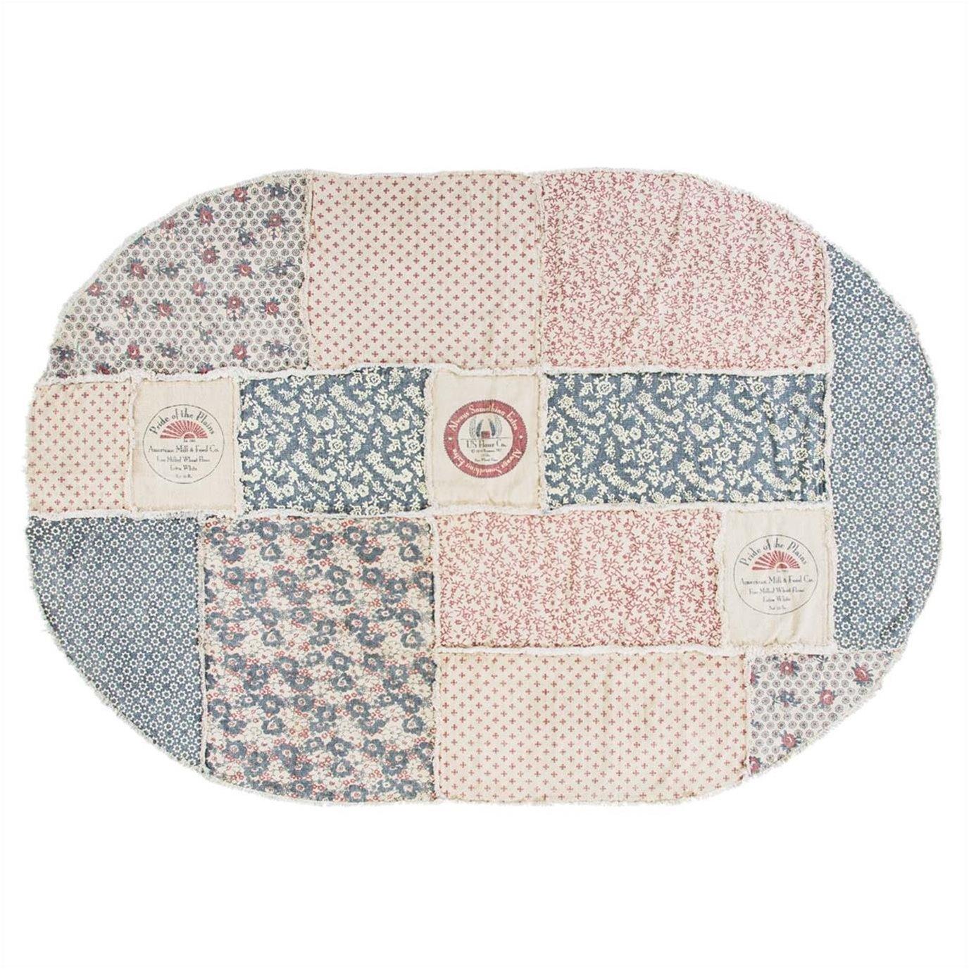 Millie Patchwork Rug Oval 70x100
