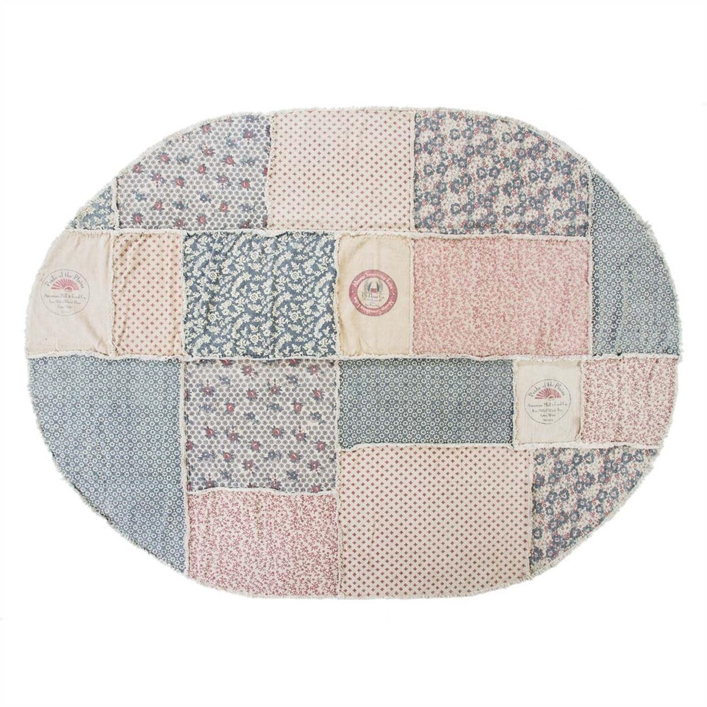 Millie Patchwork Rug Oval 96x132