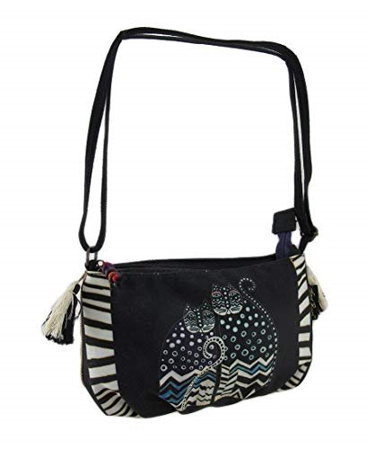 Laurel Burch Polka Dot Gatos Crossbody Bag