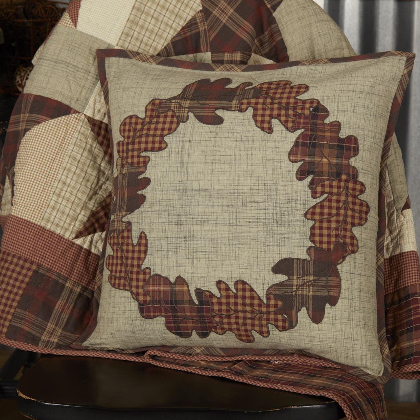 Abilene Harvest Wreath Pillow 18x18