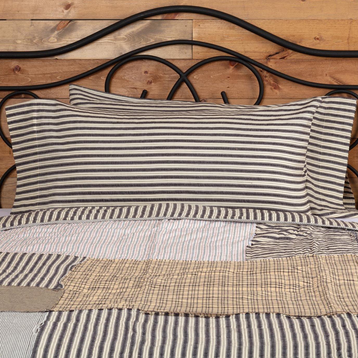 Ashmont Ticking Stripe King Pillow Case Set of 2 21x40