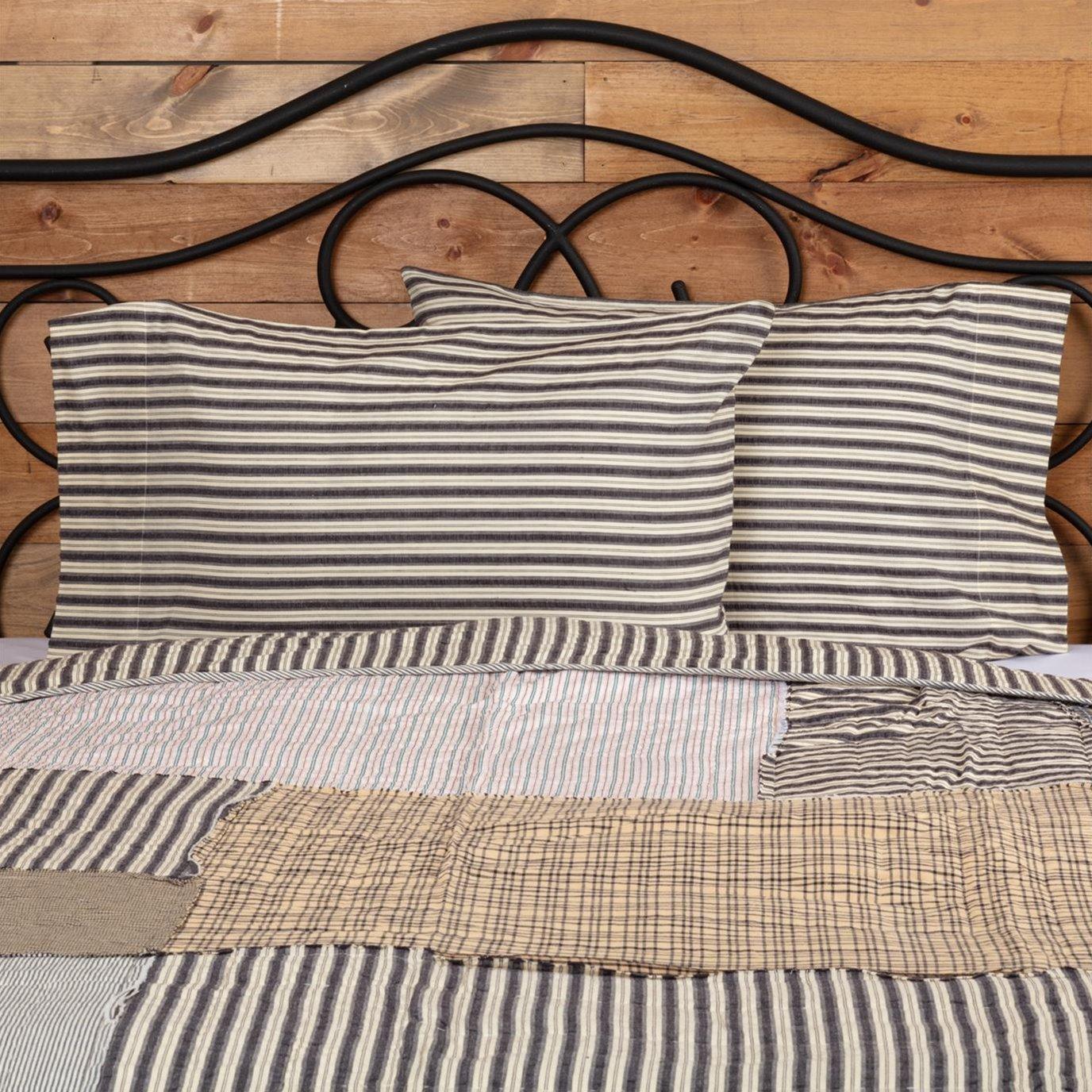 Ashmont Ticking Stripe Standard Pillow Case Set of 2 21x30