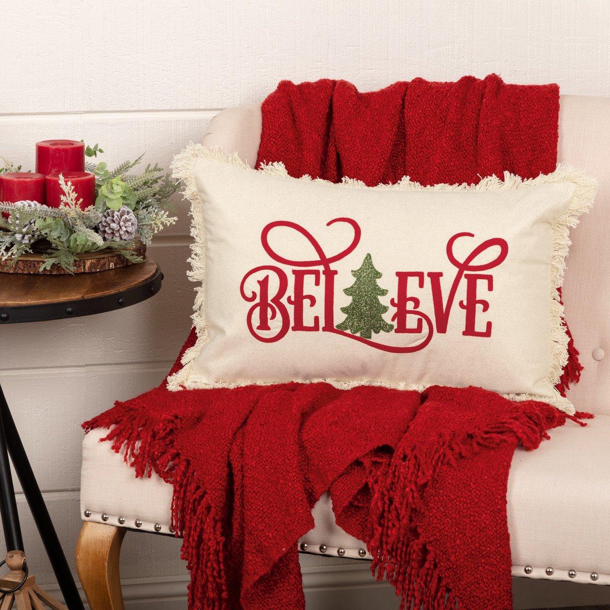 Believe Pillow 14x22