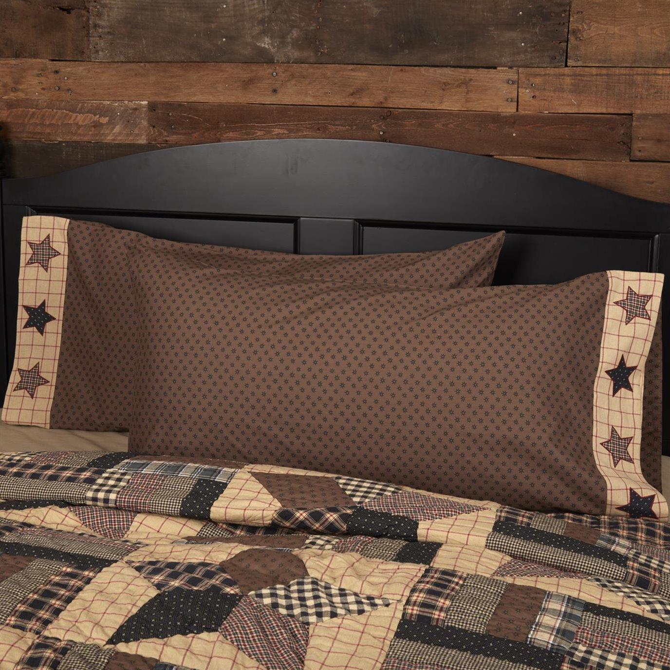 Bingham Star King Pillow Case Set of 2 21x40