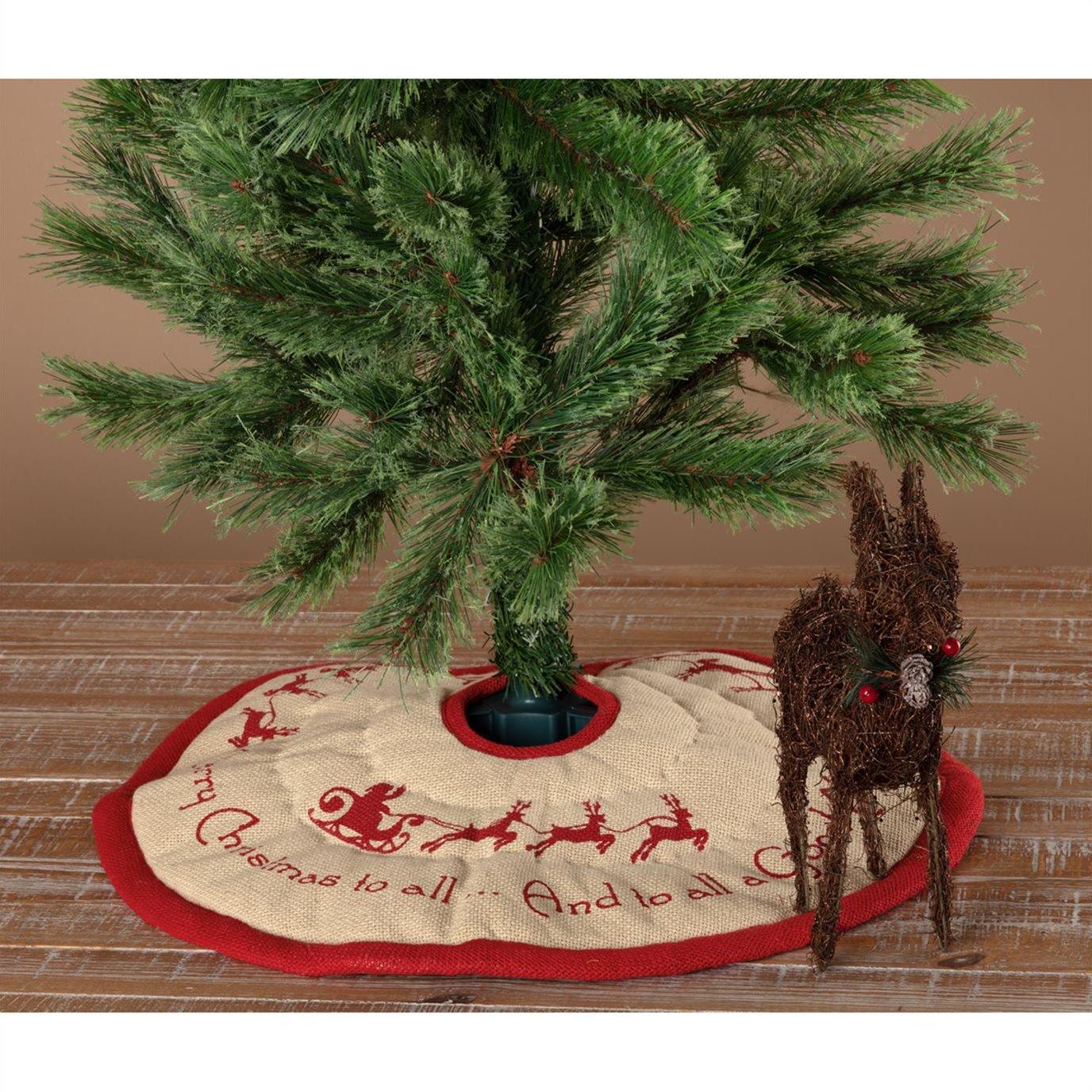 Burlap Santa Mini Tree Skirt 21