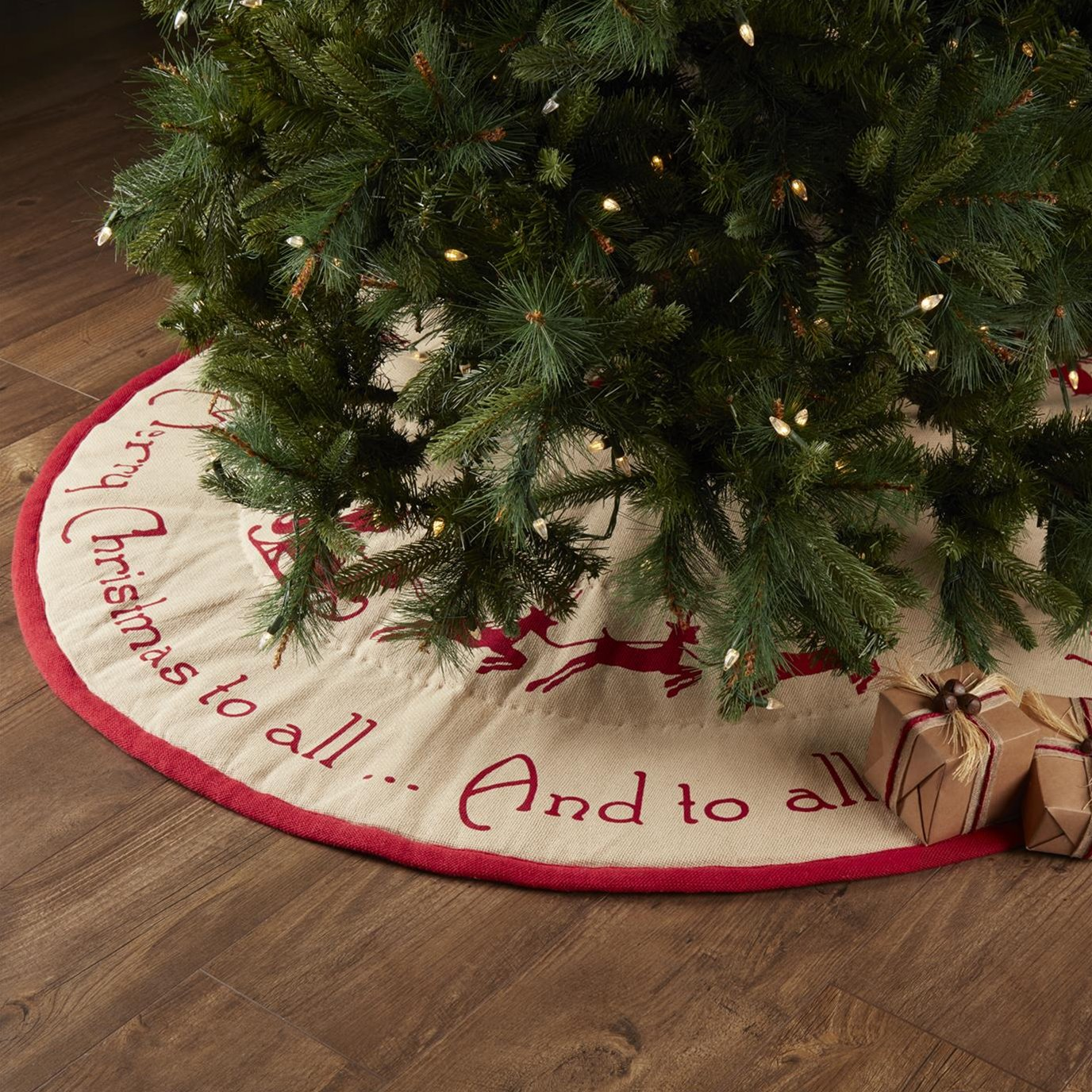 Burlap Santa Tree Skirt 55