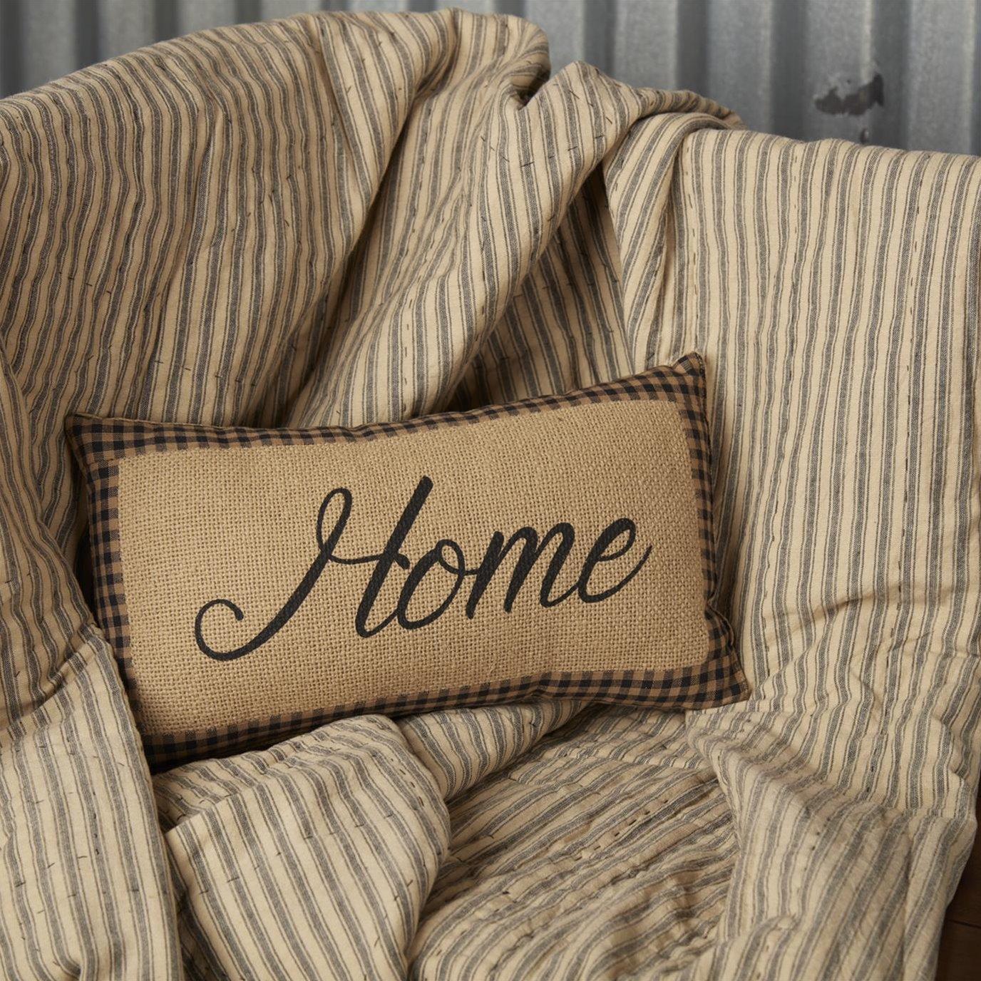 Farmhouse Star Home Pillow 7x13