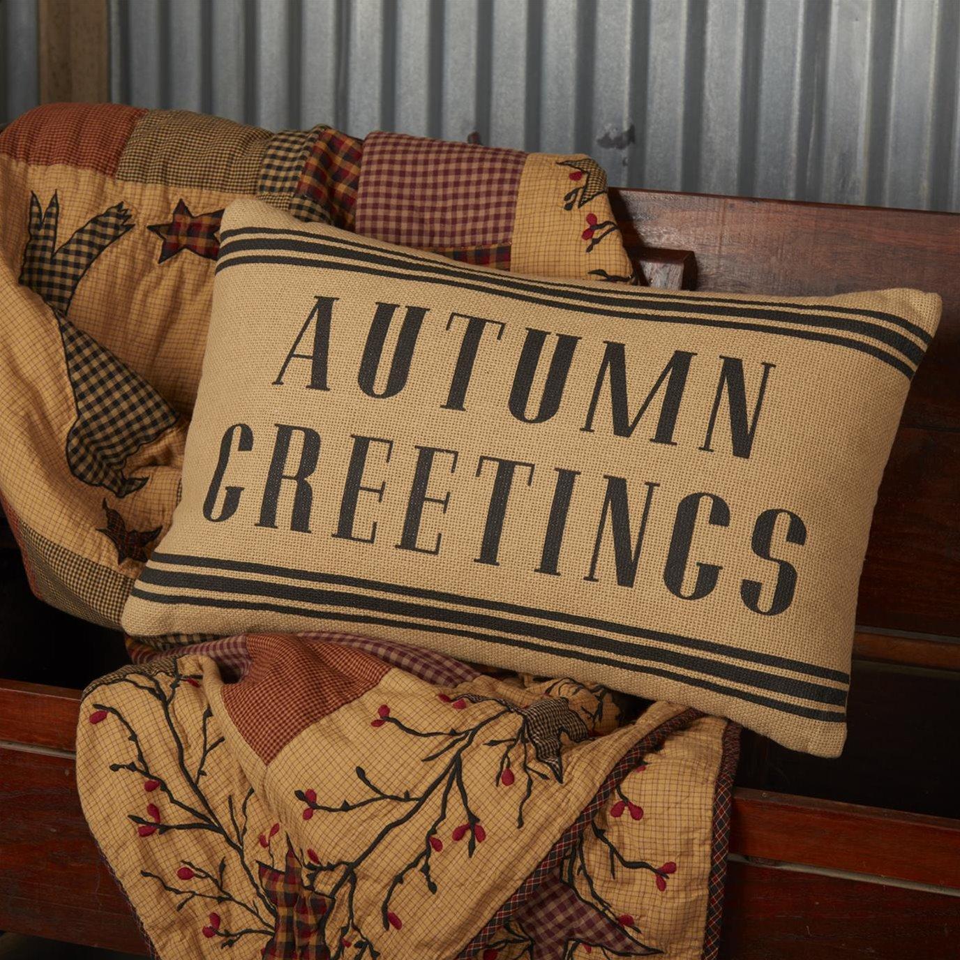 Heritage Farms Autumn Greetings Pillow 14x22