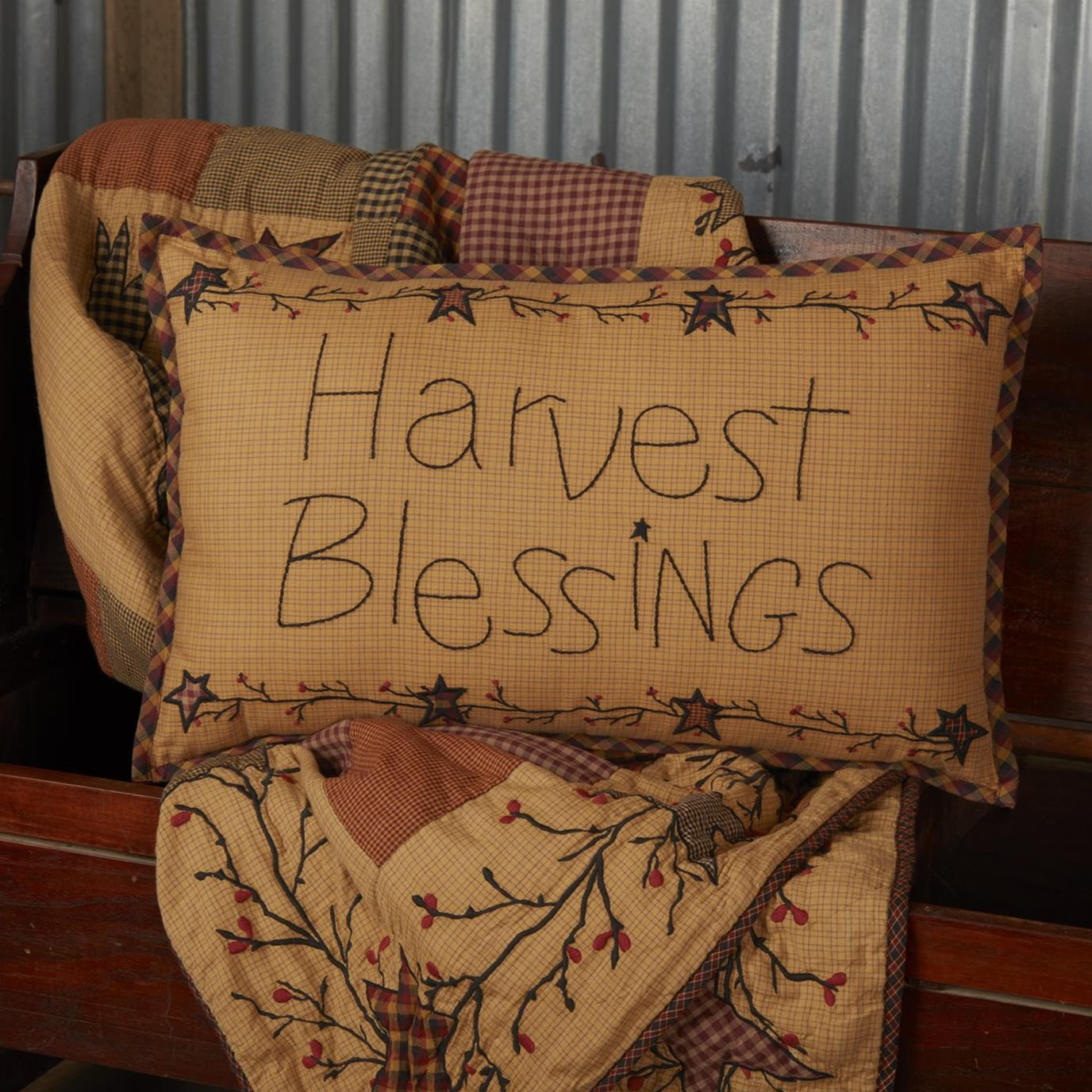 Heritage Farms Harvest Blessings Pillow 14x22