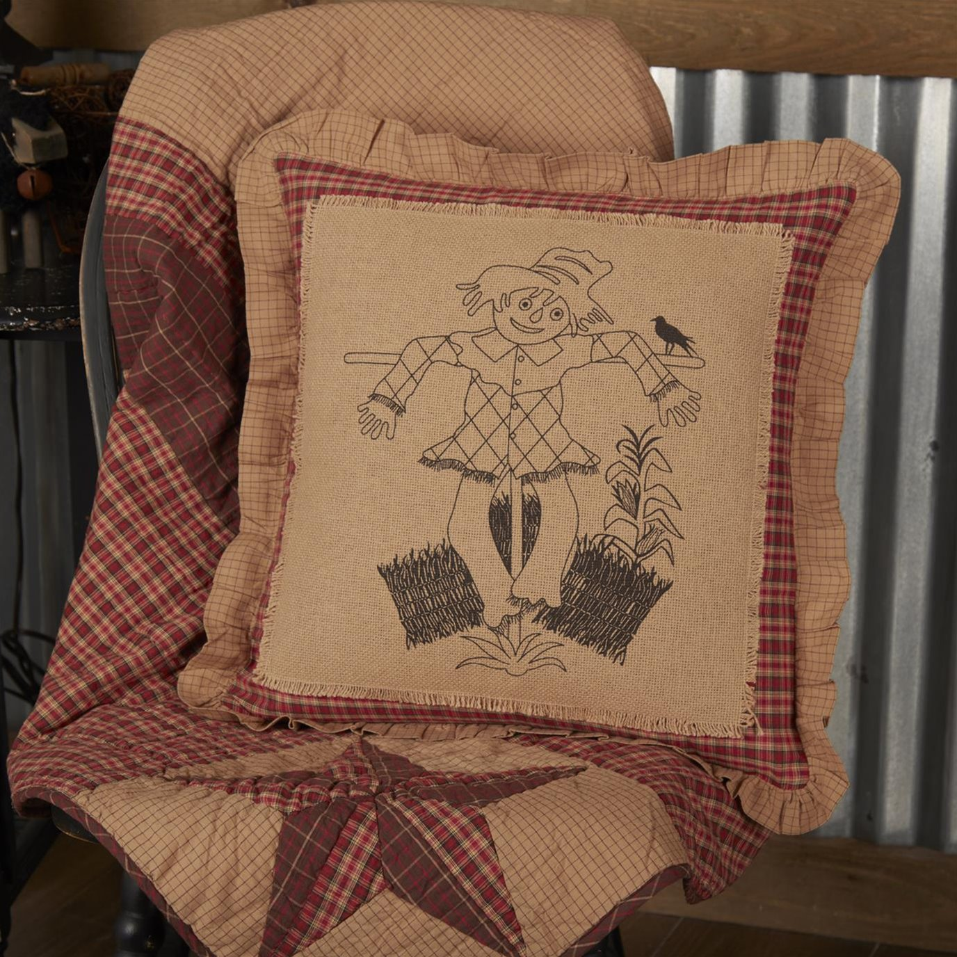 Landon Scarecrow Pillow 18x18