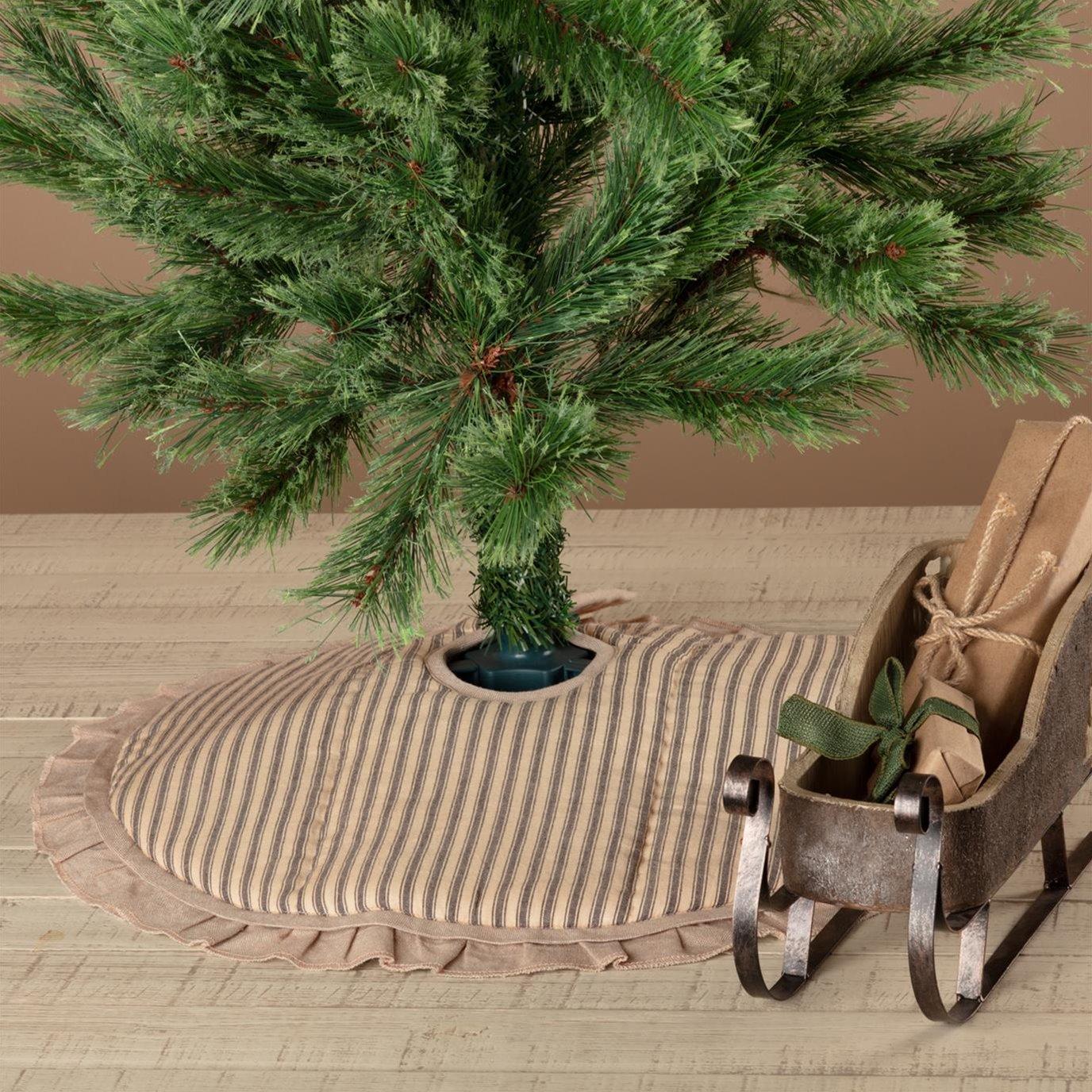 Sawyer Mill Charcoal Ticking Stripe Mini Tree Skirt 21