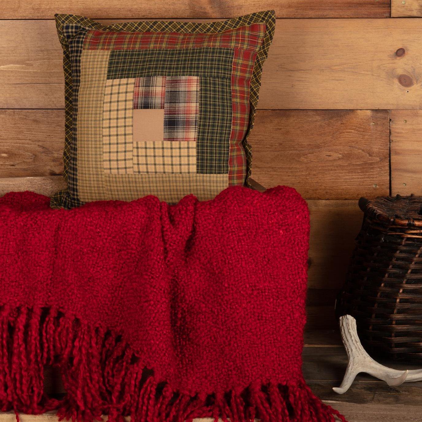 Tea Cabin Patch Pillow 12x12