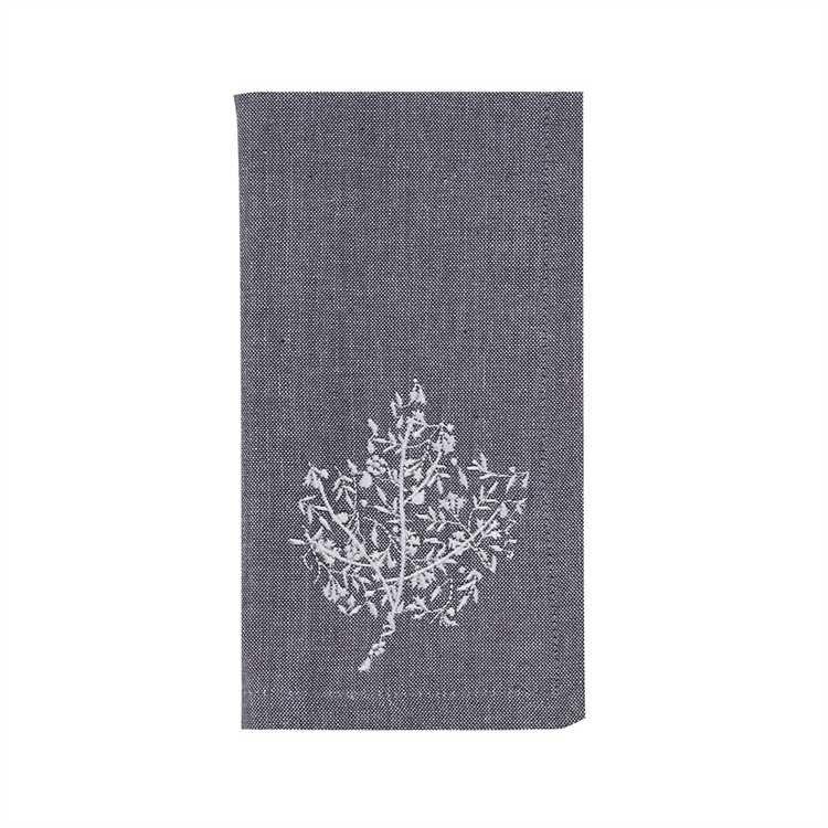 Leaf Filigree Embroidered Napkin