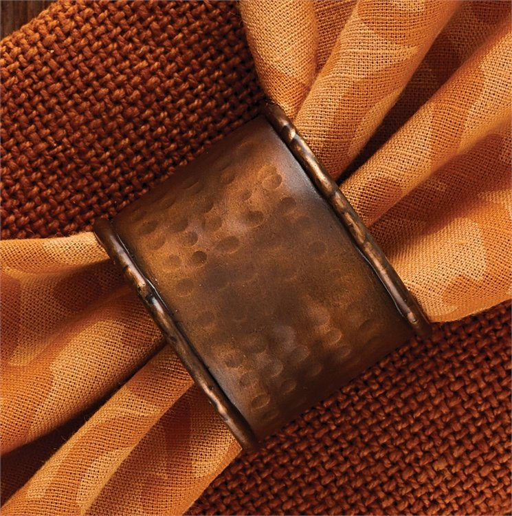 Hammered Copper Finish Napkin Ring