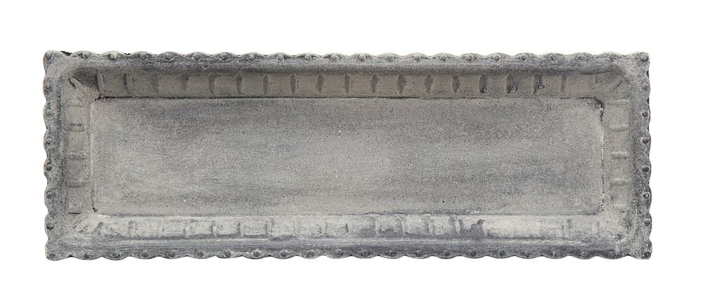 Distressed Gray Decorative Tray