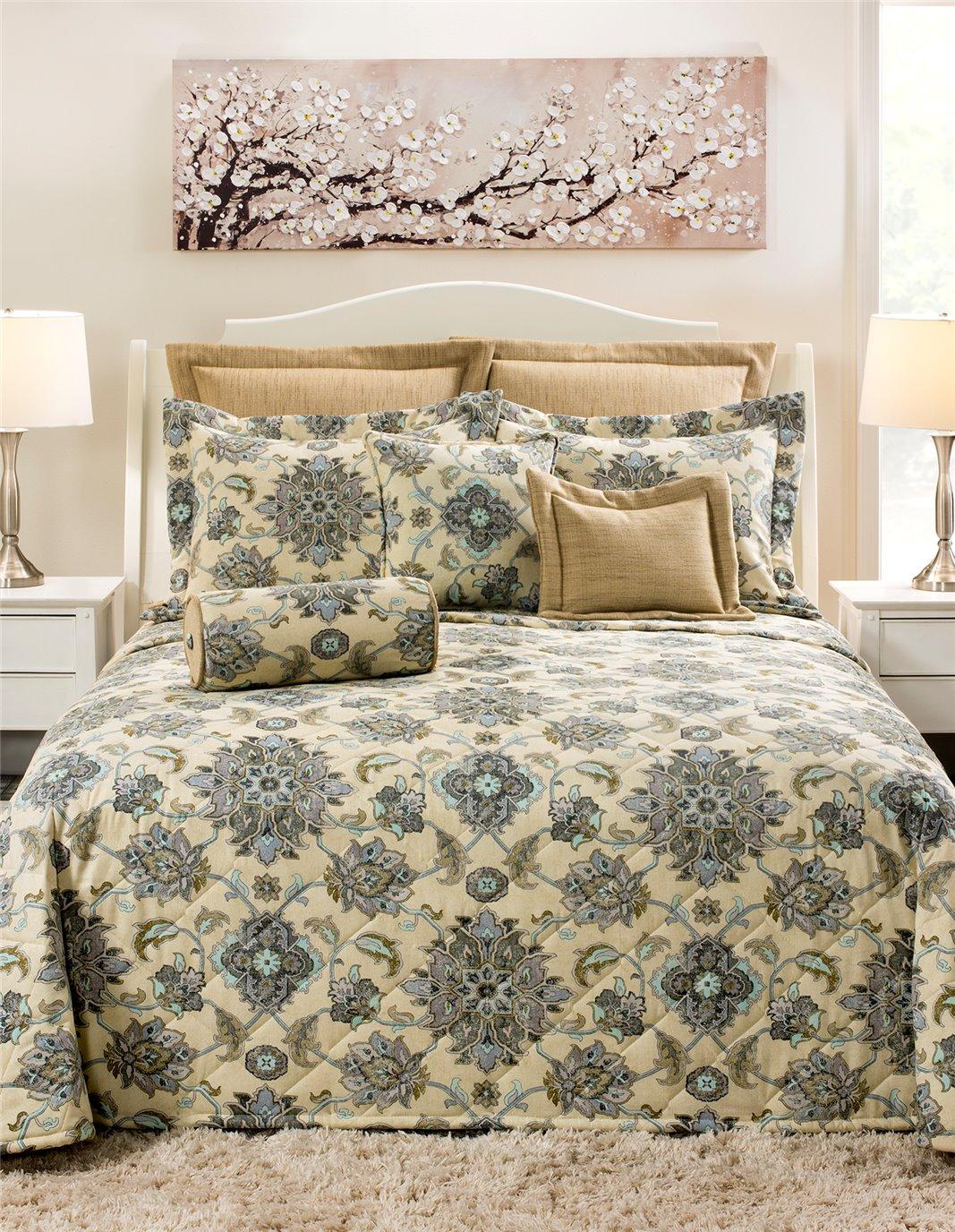 Brooklyn Graphite Queen Bedspread