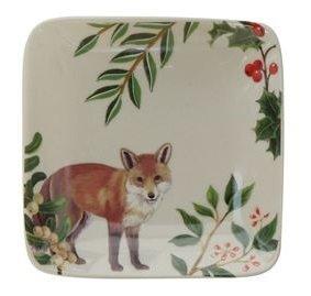 Merry Fox Small Stoneware Dish