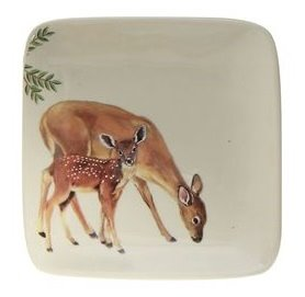 Doe and Fawn Small Stoneware Dish