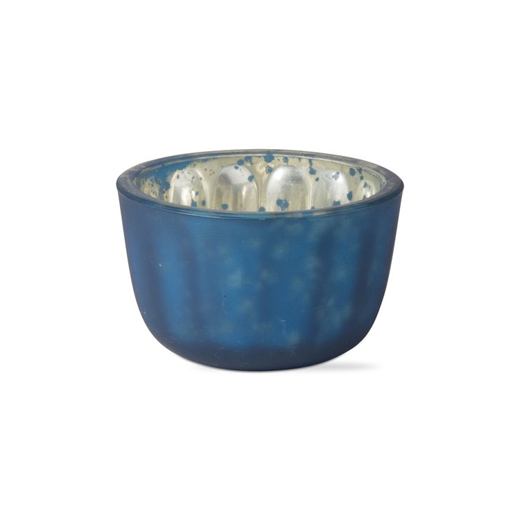 Midnight Blue Reflection Tealight Holder