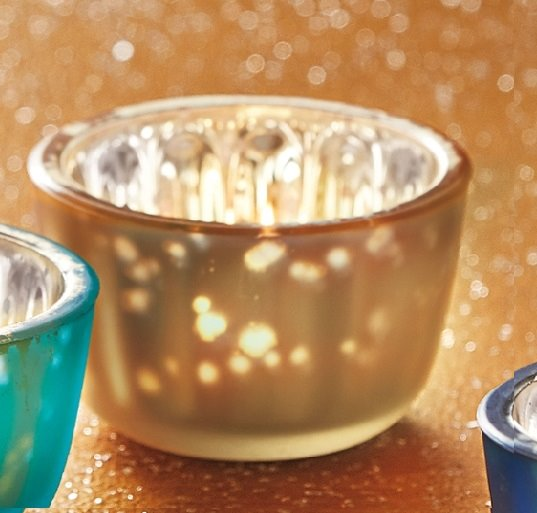 Champagne Reflection Tealight Holder