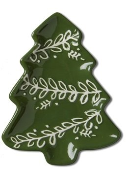 Christmas Tree Small Earthenware Dish