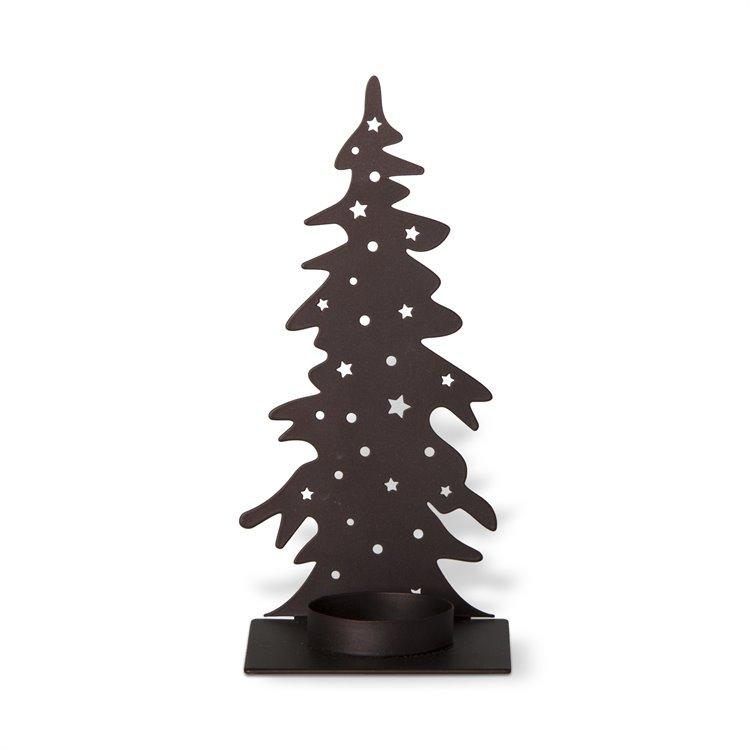 Single Tree Antiqued Bronze Tealight Holder
