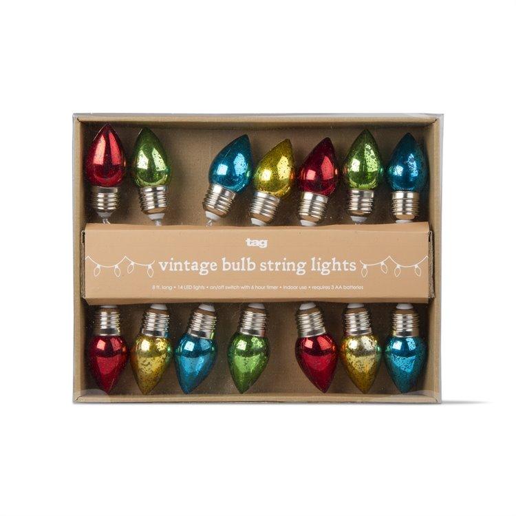 Vintage Bulb LED String Lights - Battery Powered