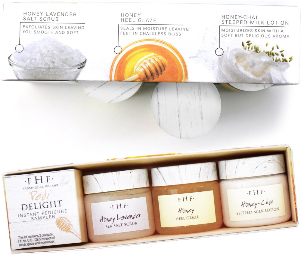 Farmhouse Fresh Pedi Delight Sampler (3X 1 oz jars)