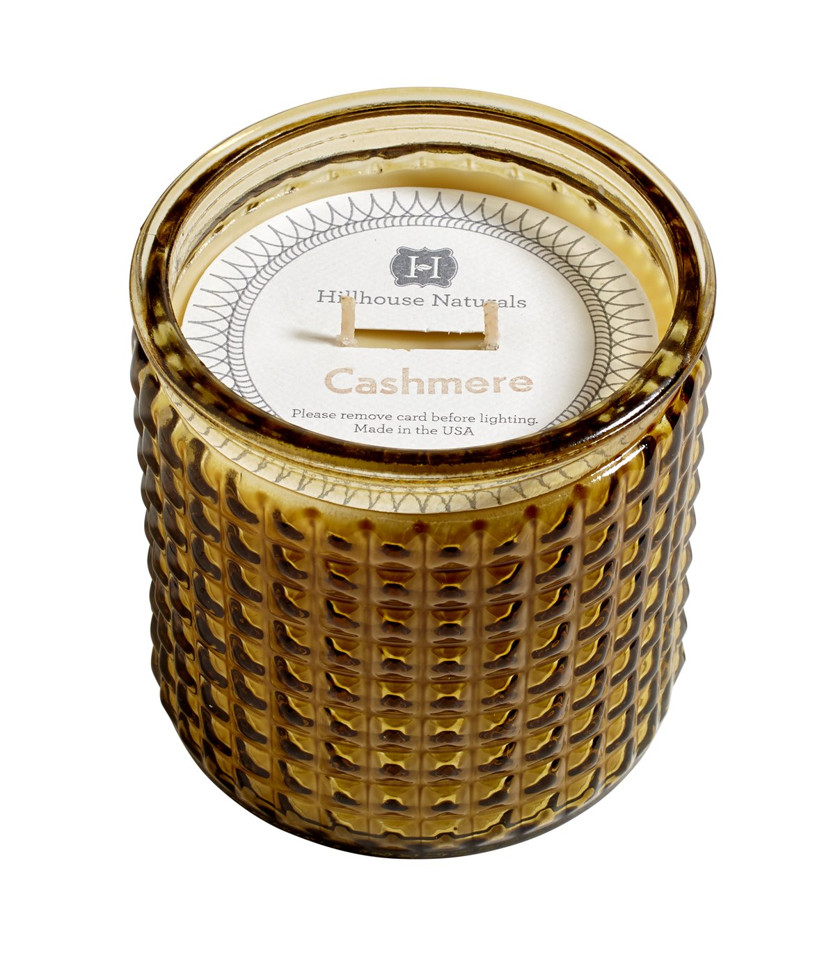 Cashmere Large Candle In Glass 15 oz by Hillhouse Naturals