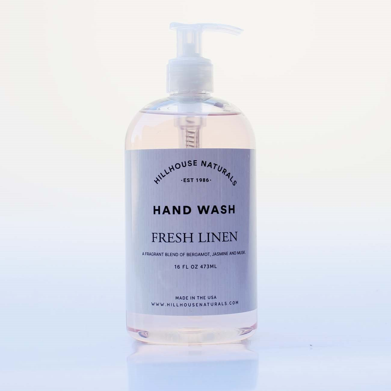 Fresh Linen Hand Wash 16 oz by Hillhouse Naturals
