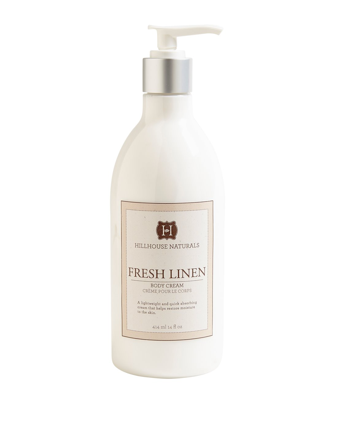 Fresh Linen Body Creme 14 oz by Hillhouse Naturals