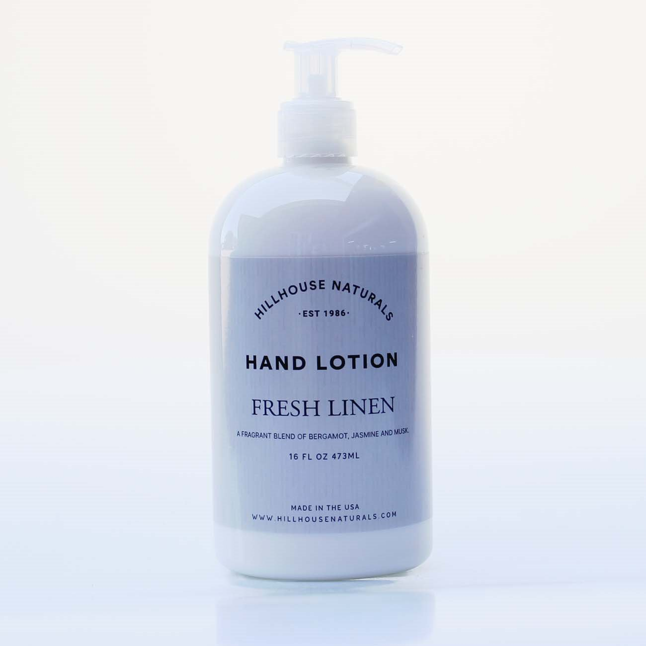 Fresh Linen Hand Lotion 8.25 oz by Hillhouse Naturals