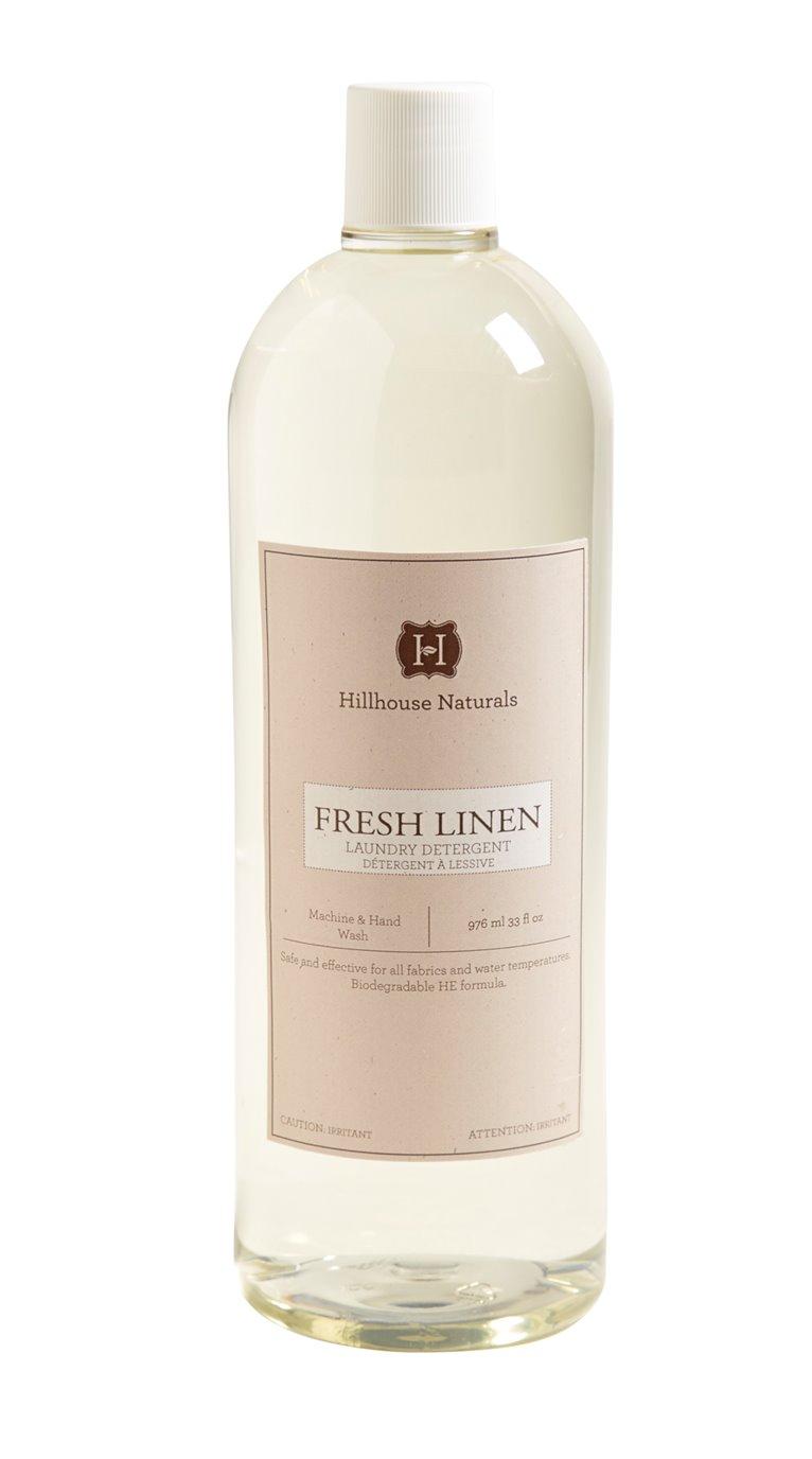 Fresh Linen Laundry Detergent 32 oz by Hillhouse Naturals