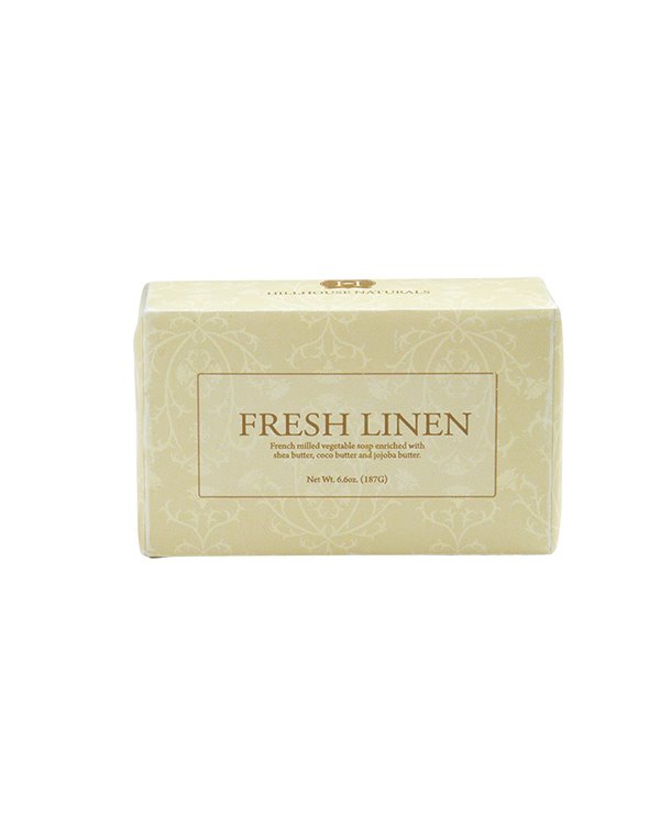 Fresh Linen French Milled Soap 6.6 oz by Hillhouse Naturals