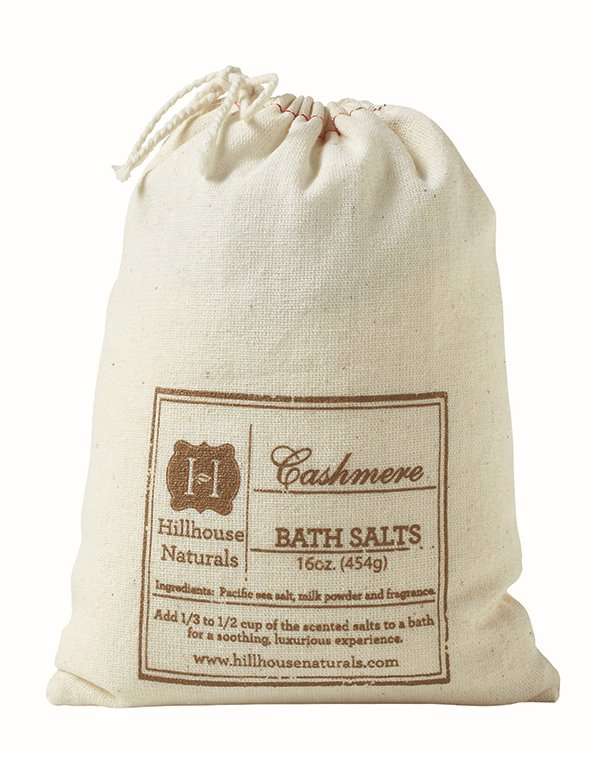Cashmere Bath Salt In Bag 16 oz by Hillhouse Naturals