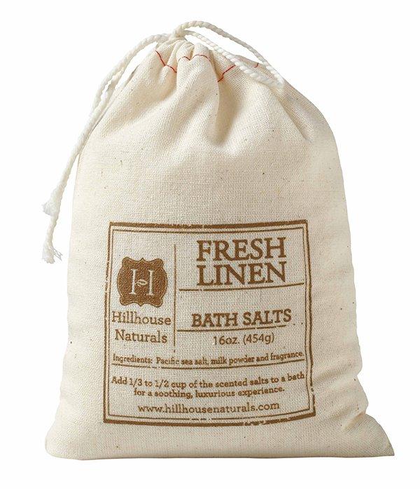 Fresh Linen Bath Salt In Bag 16 oz by Hillhouse Naturals