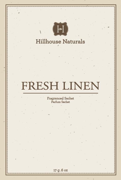 Fresh Linen Sachet .6 oz by Hillhouse Naturals