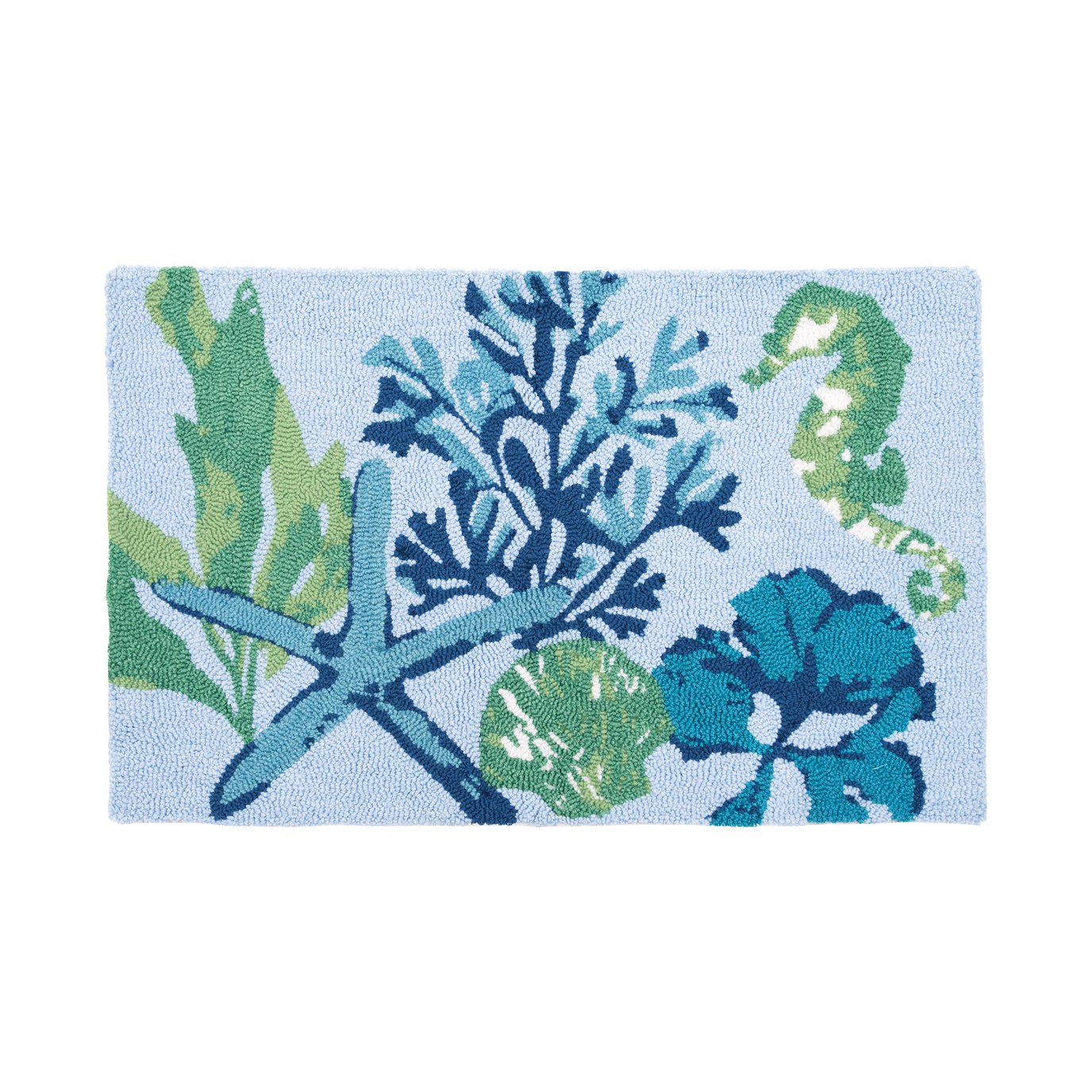 Bluewater Bay Hooked Rug
